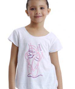 camiseta ballet happy dance niña