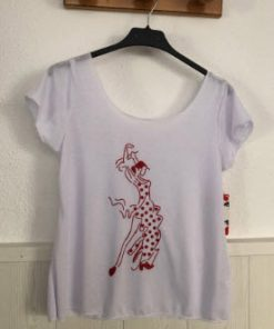 Camiseta de Flamenco Happy Dance escote abierto