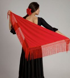 Mantón Flamenco CHD Liso