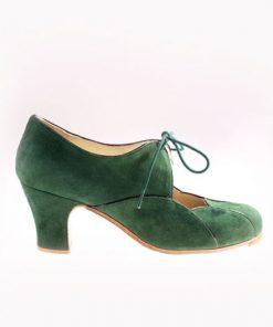 Zapatos de Flamenco Mujer Begoña Cervera Acuarela Cordones