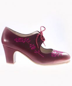 Zapatos de Flamenco Mujer Begoña Cervera Bordado Cordonera