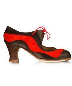 Zapatos de Flamenco Mujer Begoña Cervera Volante Cordonera