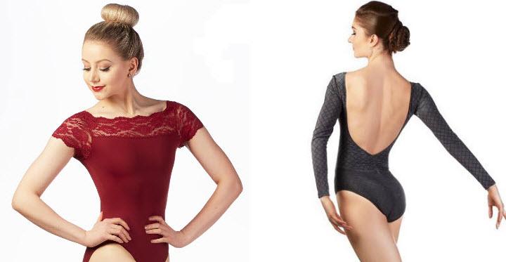 maillots ballet manga larga corta
