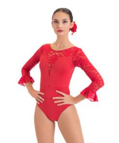 Maillot Flamenco Escote Pico Happy Dance