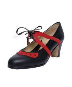 Zapatos de Baile Flamenco Happy Dance Semiprofesional Pico Calado